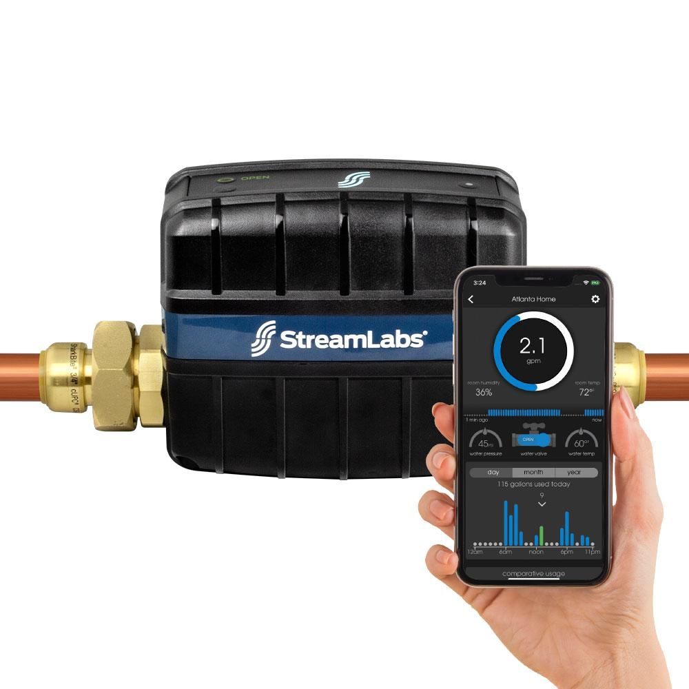 Streamlabs Smart Home 3 4 In Water Monitor And Control System With Sharkbite In 2019 Water Filtration System Fire Alarm System Control System