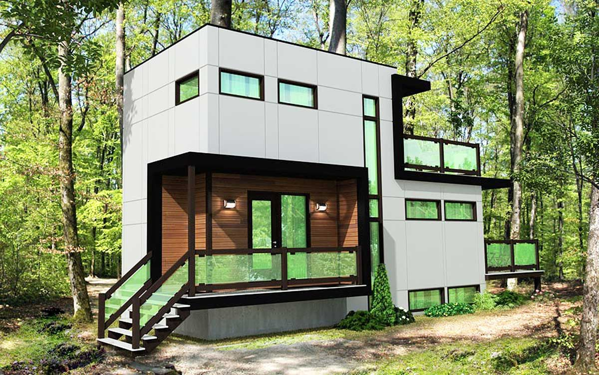 Modern Home Plan with Optional Lower Level