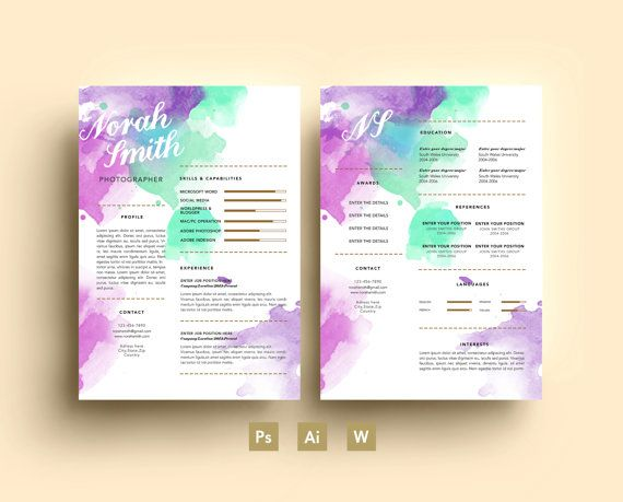 Norah Smith Digital Template - Résumé - Business card - CV - Cover - blank brochure templateresume examples customer service