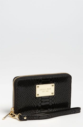 michael michael kors python embossed iphone wristlet available at rh pinterest com