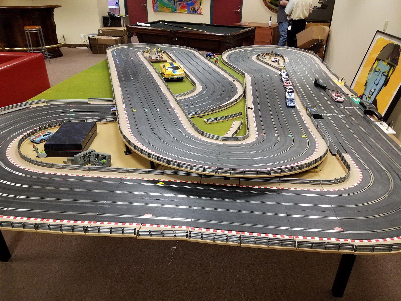 Huge hornby sport slot car track cars ninco slot it fly power supply etc 1 32