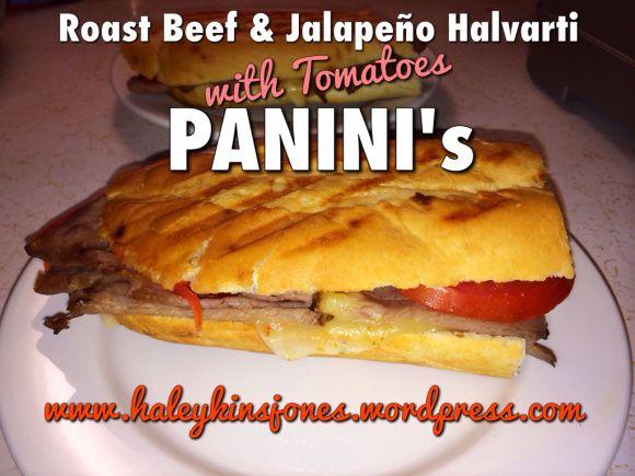 Roast Beef & Jalapeno Halvarti Panini's  www.haleykinsjones.wordpress.com