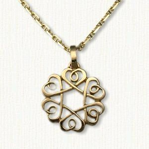 Threaded heart knot pendant with loops celtic pendants pinterest threaded heart knot pendant with loops aloadofball Images