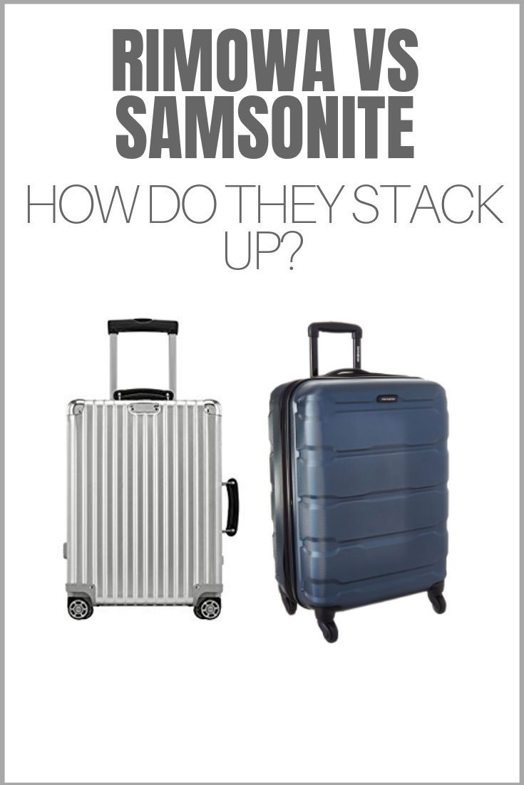 The unmistakable metal cases of Rimowa vs top luggage maker Samsonite. In this post we dive deep into how they compare and if you should buy one.  #suitcase #travelgear #rimowa #samsonite