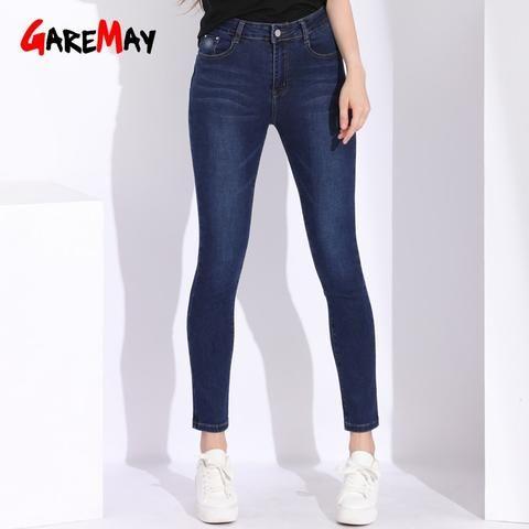 4ea09876e1 New Plus Size Fat 40-100kg Women Summer Skinny Denim Jeans For Female Black  White Skinny Jeans Stretch Pencil Pants C919