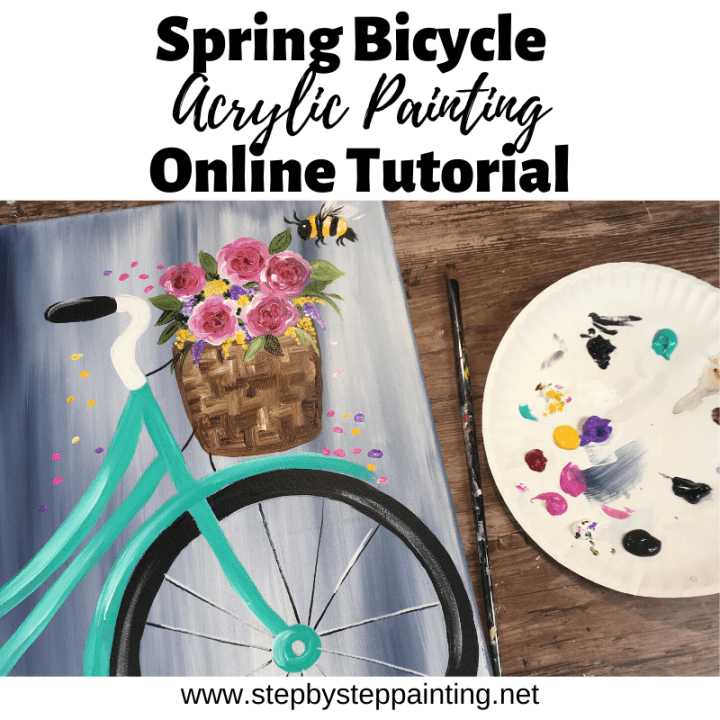 Spring Bicycle Painting In 2020 Bicycle Painting Watercolor