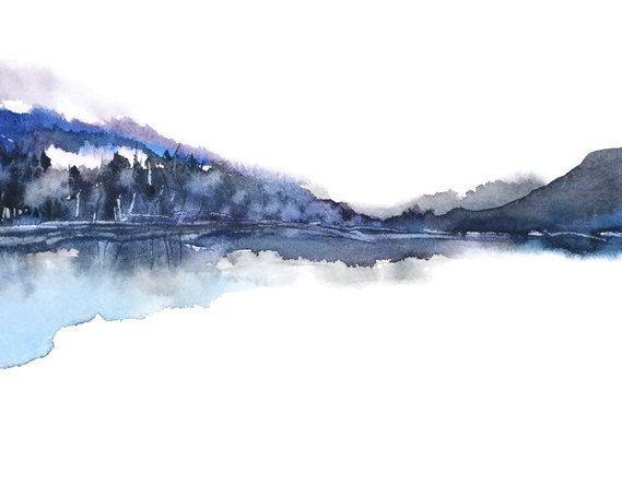 Peinture De Paysage Peinture Aquarelle Impression Impression De