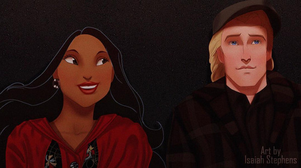 Disney Characters in Scenes from 'The Notebook'