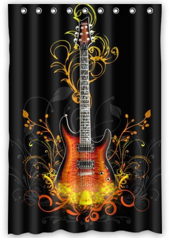 Musical Instrument WaterProof Polyester Fabric 48 X 72 Shower Curtain Check Out This Great Product