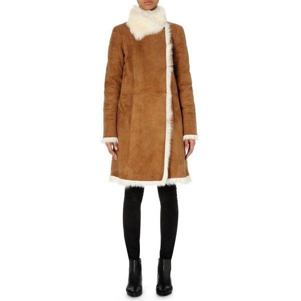 JOSEPH Anais Toscana sheepskin coat (4,385 BAM) ❤ liked on Polyvore  featuring outerwear,