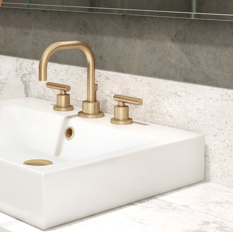 Photo of Dia Widespread Bathroom Faucet with Drain Assembly