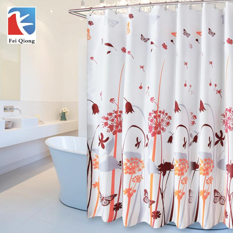 180180cm 1Pcs Dandelion Shower Curtains Design Water Resistance Fabric Polyester Waterproof Home Bathroom