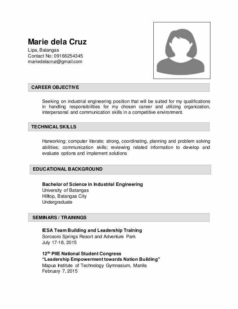 Engineer In Training Resume New Sample Resume For Industrial Enginering In 2020 Job Resume Samples Engineering Resume Resume Objective
