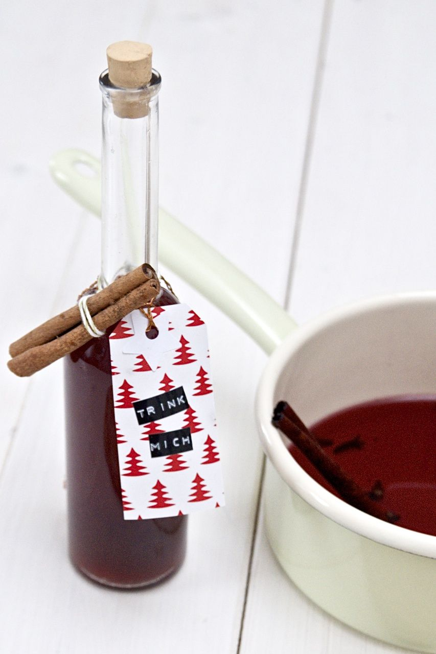 Rezept für DIY Glühweinsirup - tolles Geschenk zu Weihnachten oder ...
