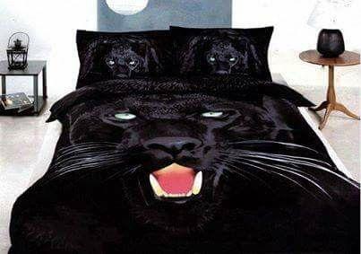 Parure de lit panthère noire