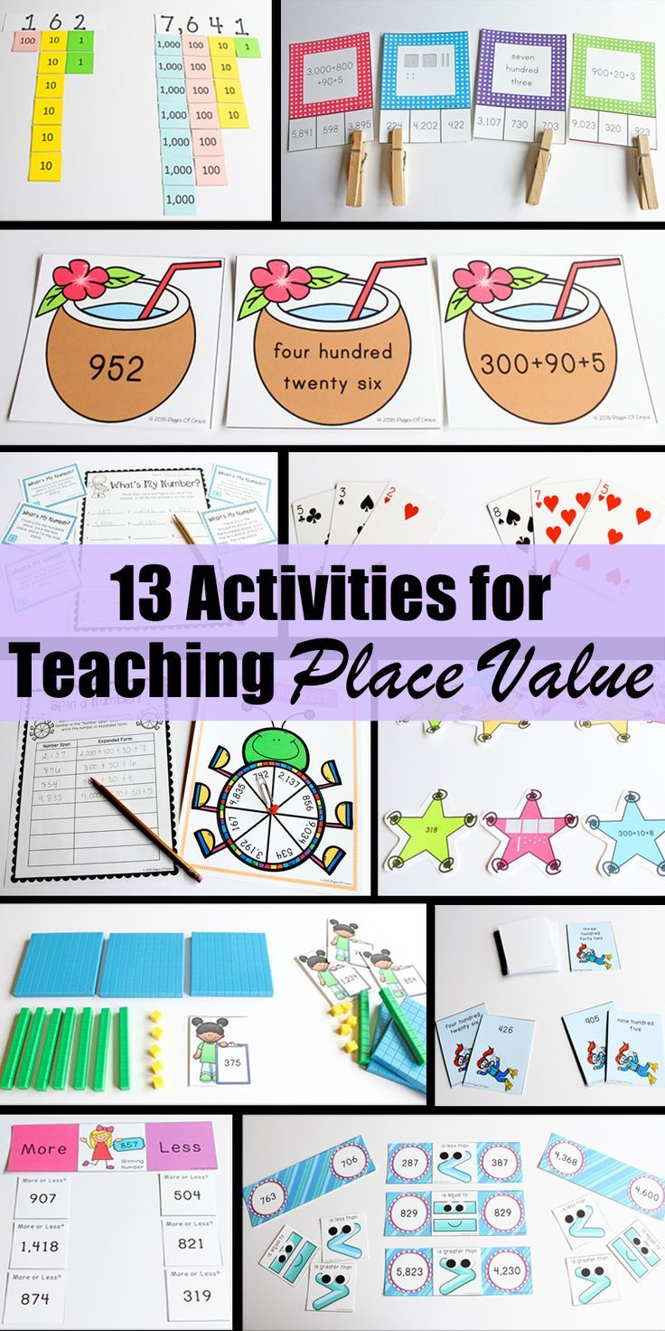 Place Value Unit-Second Grade Math | Fun activities, Math and Worksheets