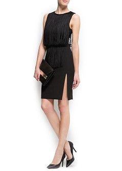 MANGO - 세일 - 드레스 - 프린지 드레스