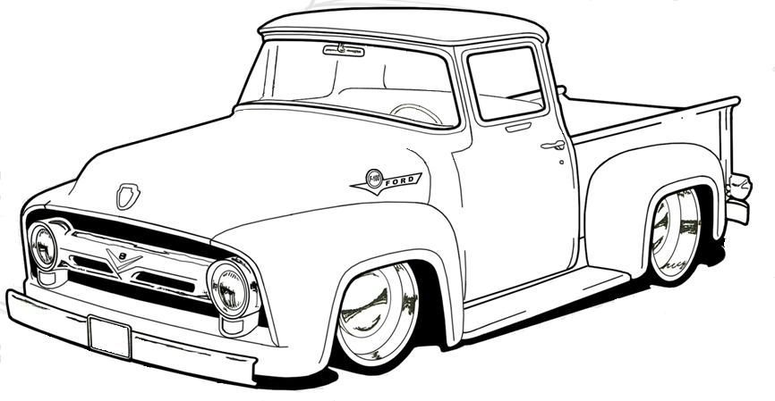 Pickup Truck Coloring Page Oldpickuptruck Truck Coloring