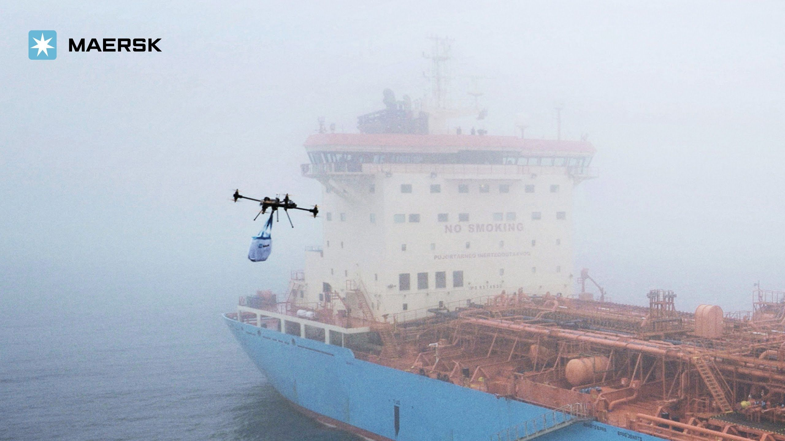 Maersk tankers flown out by drone comercio exterior