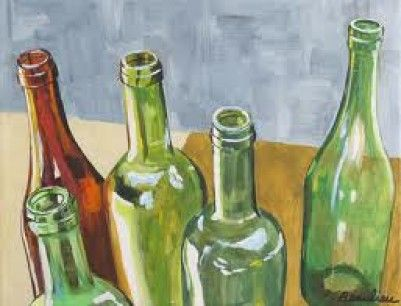 How to Paint a Glass Bottle on Canvas
