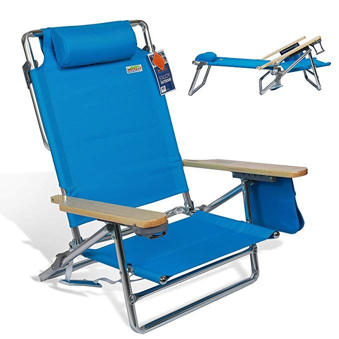 Wondrous Portable Folding Beach Chair 5 Position Lay Flat Reclining Caraccident5 Cool Chair Designs And Ideas Caraccident5Info
