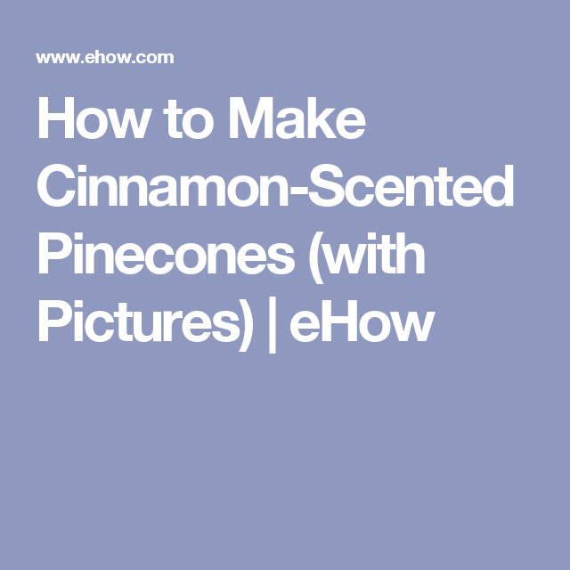 How To Make Cinnamon-Scented Pinecones (Two Easy Tutorials