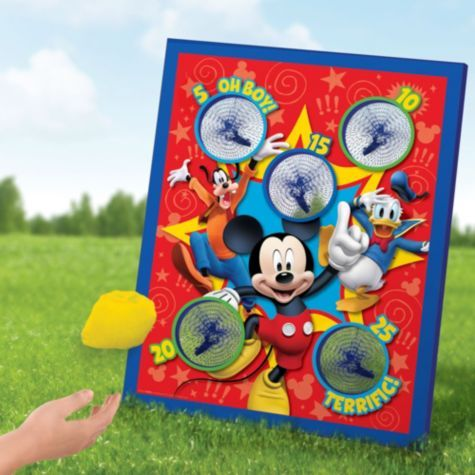 Mickey Mouse Bean Bag Toss Game Party City 15 99 Birthdays