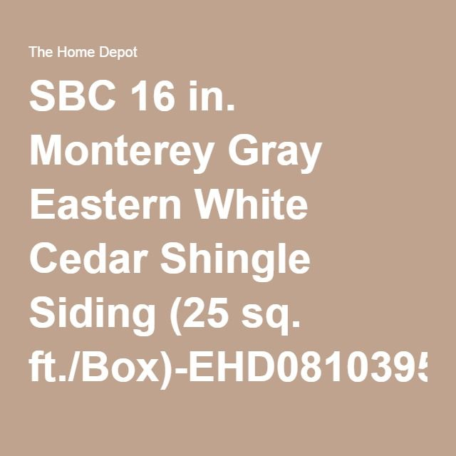 Best Sbc 16 In Monterey Gray Eastern White Cedar Shingle 400 x 300