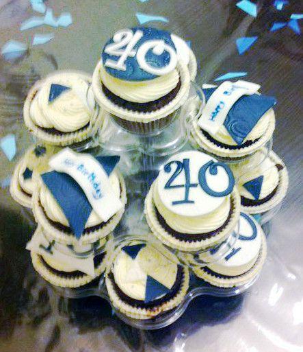 Stupendous 40Th Birthday Cupcakes 40Th Birthday Cupcakes 50Th Birthday Funny Birthday Cards Online Benoljebrpdamsfinfo