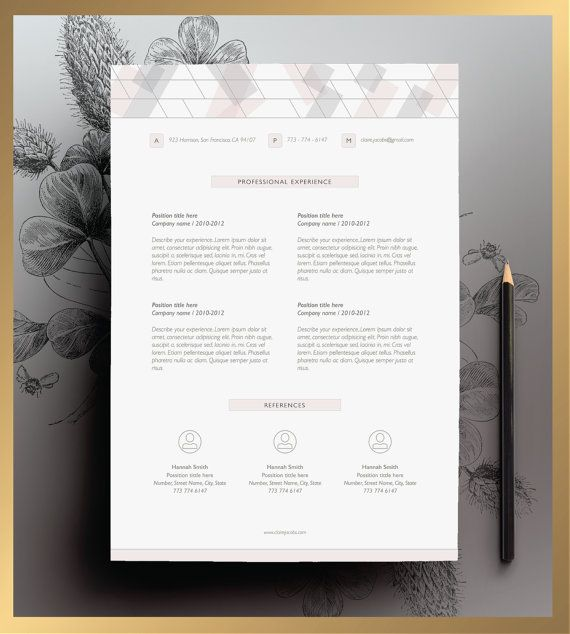 Creative Resume Template Editable In Ms Word And By Cvdesignco
