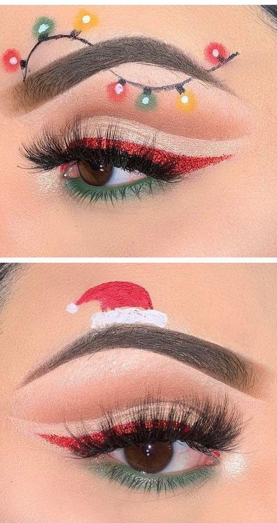 Verwirrende WEIHNACHTS-MAKEUP-AUSSEHEN! Es ist sehr lustig und erstaunlich für diesen Dezember! Teil 30 - Samantha Fashion Life #makeuplooks