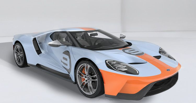 2019 Ford Gt Heritage Edition Vin 001 Is Headed To Auction For Charity The Drive Ford Gt Ford Gt Gulf 2019 Ford