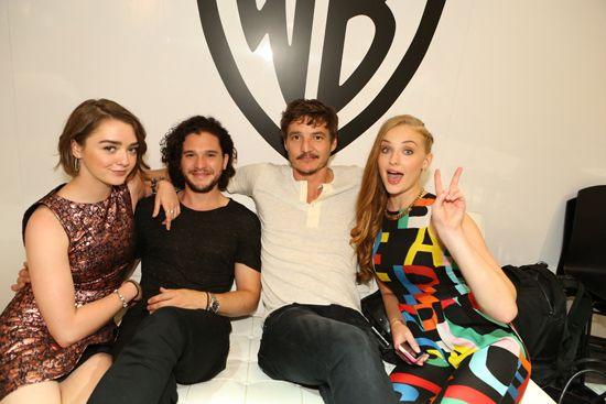 Maisie Williams, Kit Harington, Pedro Pascal, and Sophie Turner; Comic Con 2014