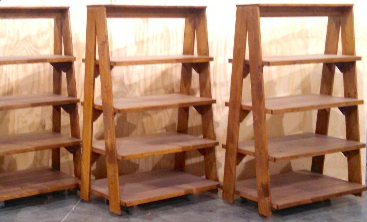 Extra wide deep ladder style displays heavy duty garden center