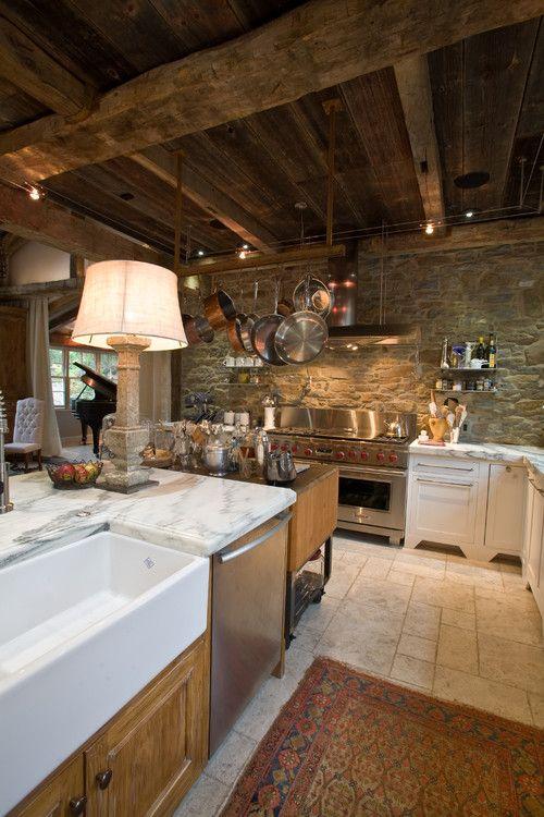Rustic Kitchens Rustic Kitchen Ideas #RusticKItchen #Kitchen