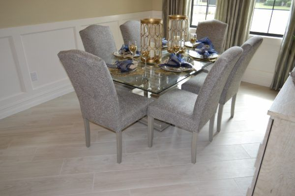 Tile Inspiration From The Fort Myers Parade Of Homes 2016 Dining Room Floor Tile Inspiration Home
