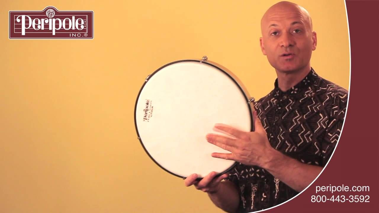 How to play a basic rhythm on the frame drum frame drum
