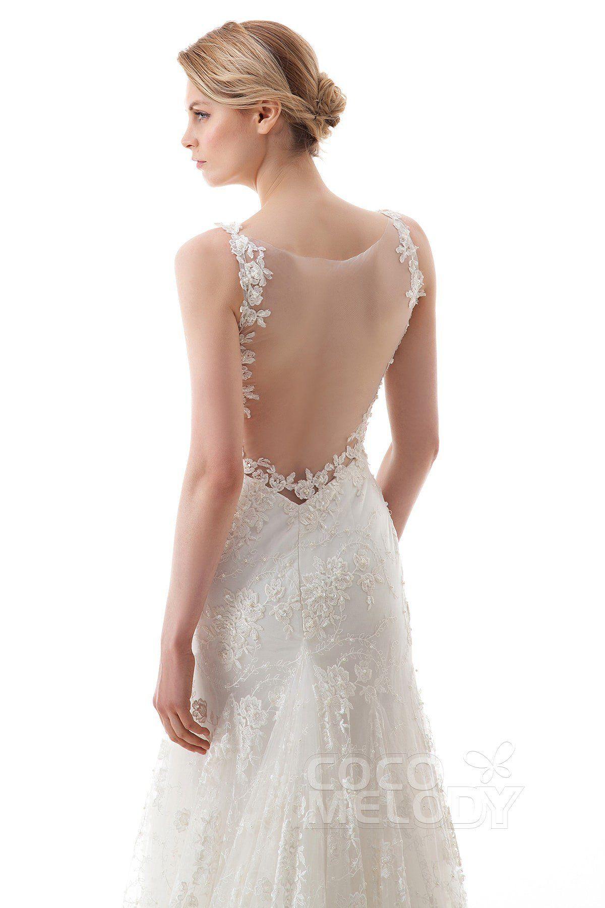 Best wedding dresses for short waisted  TrumpetMermaid SweepBrush Train Lace Wedding Dress LWVTA