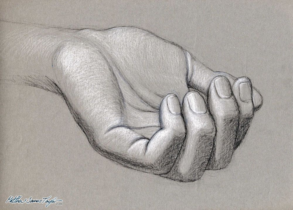 It is an image of Terrible Hands Drawing Toned Paper