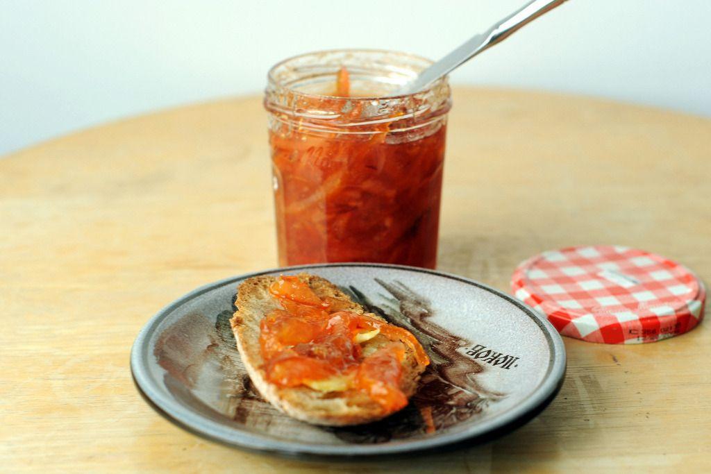 Meyer Lemon and Blood Orange Marmalade - Sassy Radish (Vegan Vegetarian Fruit Appetizer / sides Meyer For A Day Raw sugar Meyer lemons Blood oranges)