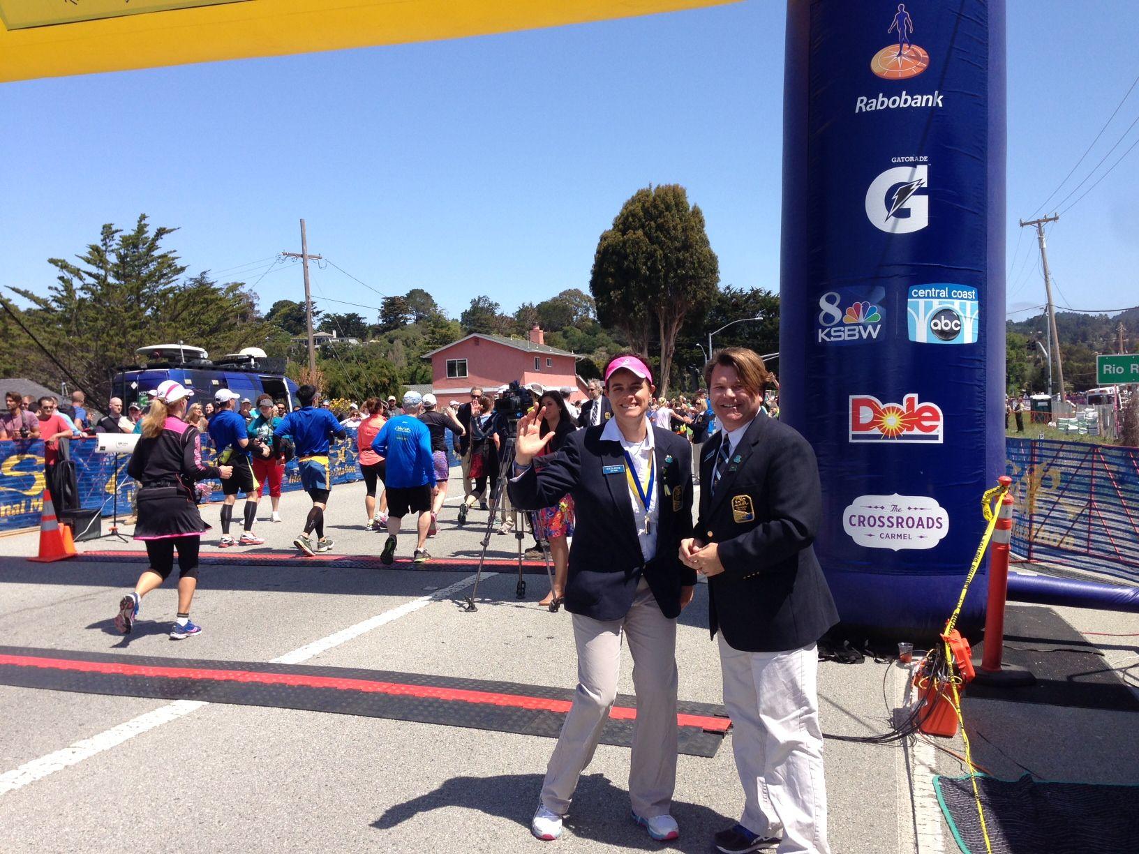 Big Sur International Marathon.  11 timing lines!