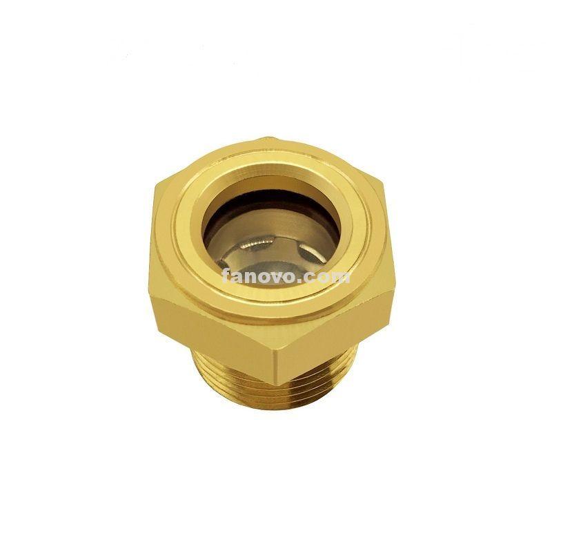 38 12 34 1 npt thread hexagon brass coolant sight
