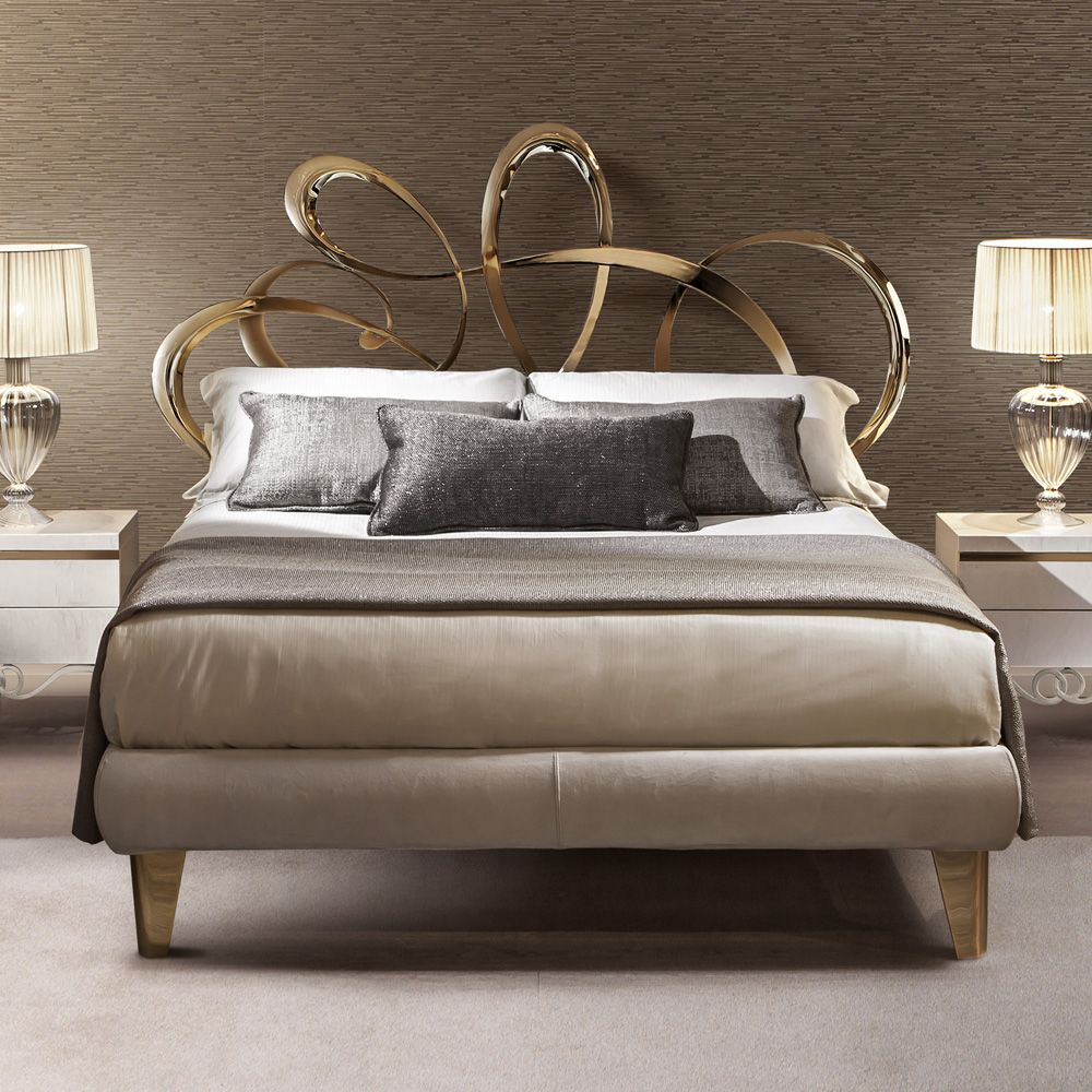 High End Italian Gold Plated Designer Bed Juliettes Interiors Bed Design Luxury Bedding Luxury Mattresses Gold plated luxury bedroom