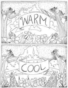 Warm And Cool Color Sheet Art Handouts Art Worksheets Elementary Art Projects