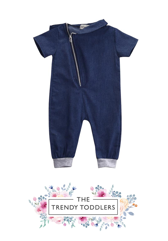 06b783ac7381 SHOP Our Denim Zipper Jumpsuit for Baby   Toddler Boys