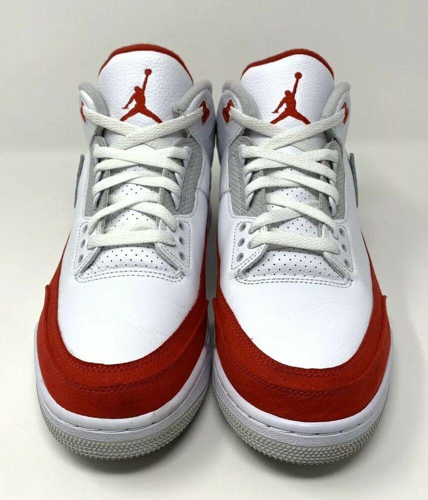 "f7c3d65cbbf Retro Air Jordan 3 ""Air Max 1"" Size 12 BLACK WHITE GREY RED TINKER ..."