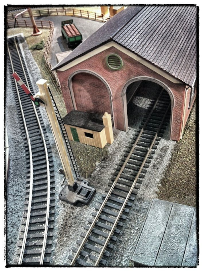 #Shooting some material for a new #BeardOil co & am using a friends yummy #TrainSet & #ModelVillage as a backdrop..