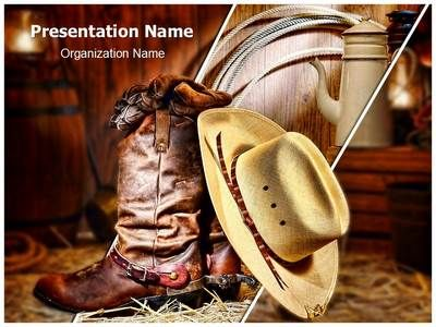 American Cowboy Powerpoint Template is one of the best PowerPoint