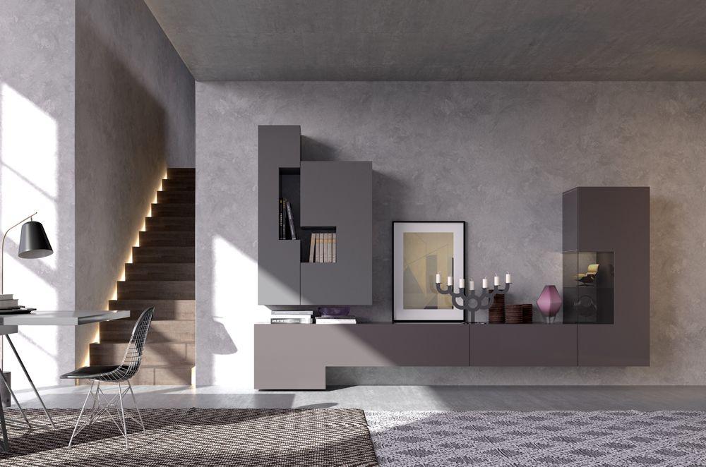 Mobili moderni per soggiorno: pareti attrezzate moderne e ...