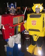 Optimus Prime and Bumblebee Transformers Costumes